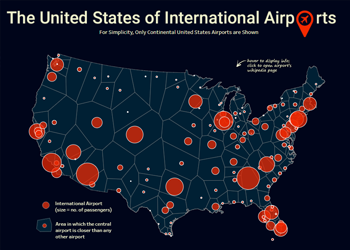 Proximity Analysis with Voronoi Diagrams – Mapping US International Airports